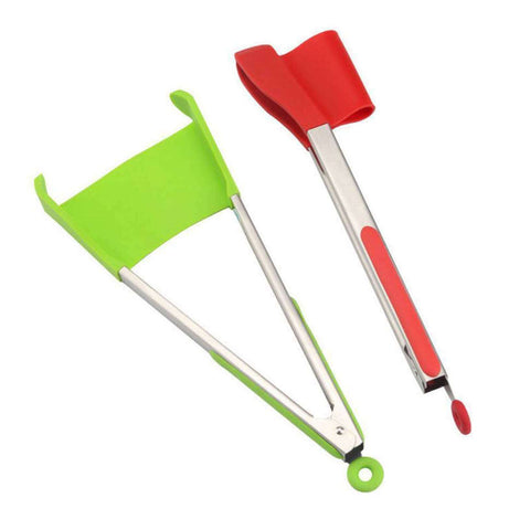 All For Hobbies 2-in-1 Spatula Tongs