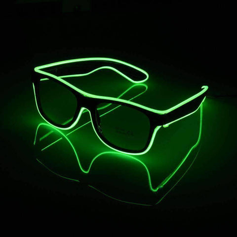 All For Hobbies Green LED Glasses