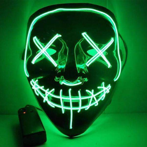 Image of All For Hobbies Green LED Purge Mask