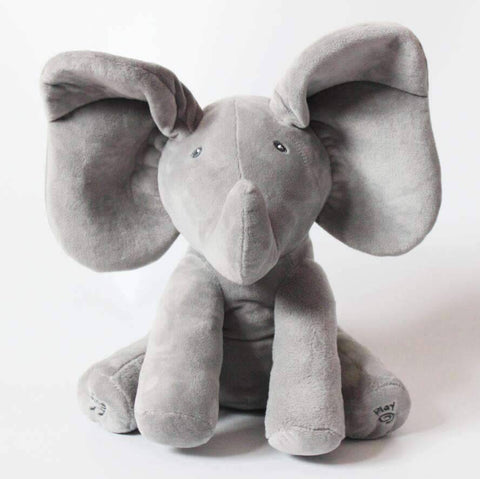 Image of All For Hobbies Grey Peek a Boo Elephant Plush