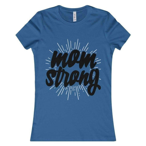 All For Hobbies Heather True Royal / S Mom Strong Tee