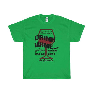 All For Hobbies Irish Green / S Never Too Early For Wine Tee