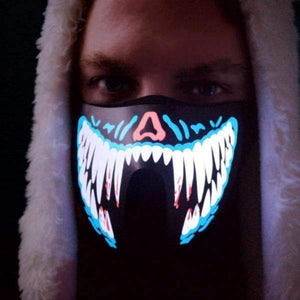 All For Hobbies Jaws Sound Reactive LED Mask