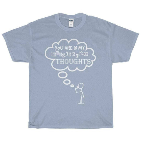 All For Hobbies Light Blue / S Inappropriate Thoughts Tee