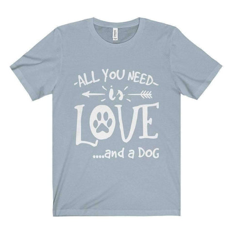 Image of All For Hobbies Light Blue / XS All You Need Is Love Tee