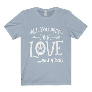 All For Hobbies Light Blue / XS All You Need Is Love Tee