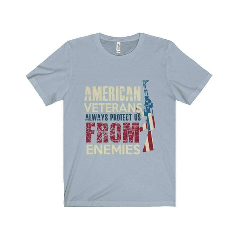 All For Hobbies Light Blue / XS Veteran's Always Protect Us Tee