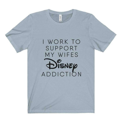 All For Hobbies Light Blue / XS Wife's Disney Addiction Tee