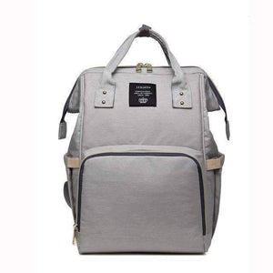 All For Hobbies light gray Baby Diaper Backpack