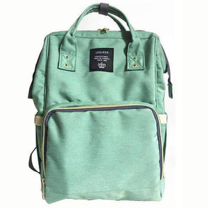 All For Hobbies light green Baby Diaper Backpack
