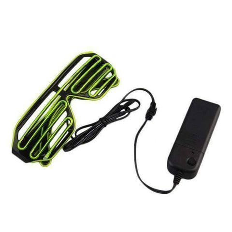 All For Hobbies Light Green Duo-Color LED Glasses