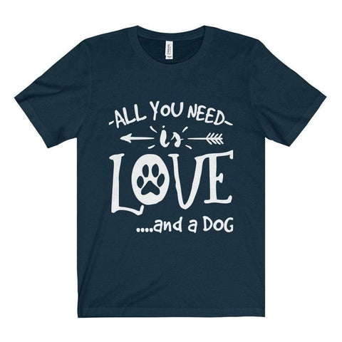 Image of All For Hobbies Navy / XS All You Need Is Love Tee