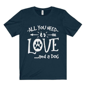 All For Hobbies Navy / XS All You Need Is Love Tee