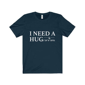 All For Hobbies Navy / XS HUGe Cup of Coffee Tee