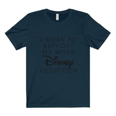 All For Hobbies Navy / XS Wife's Disney Addiction Tee