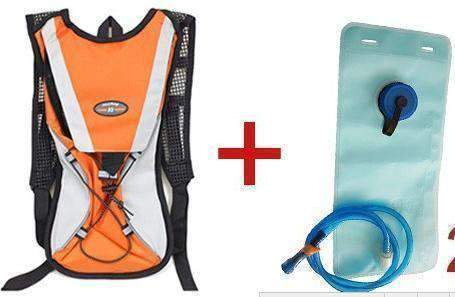 All For Hobbies Orange add 2L bag Water Backpack