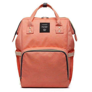 All For Hobbies orange Baby Diaper Backpack