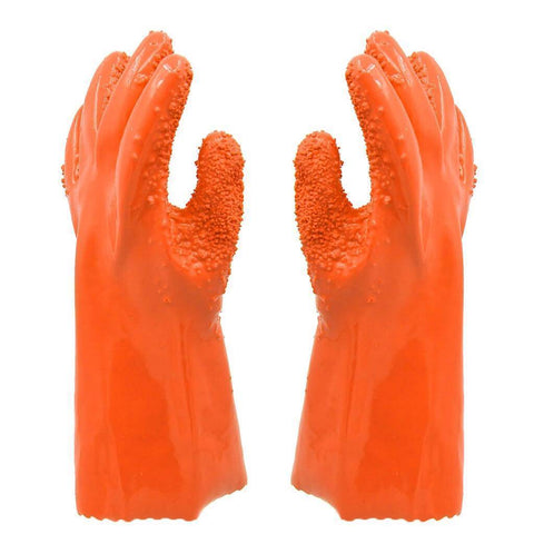 All For Hobbies Orange Potato Peeling Gloves