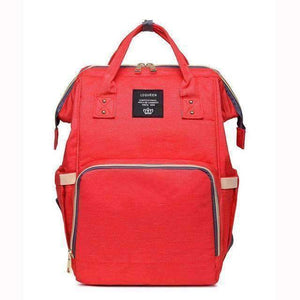 All For Hobbies orange red Baby Diaper Backpack