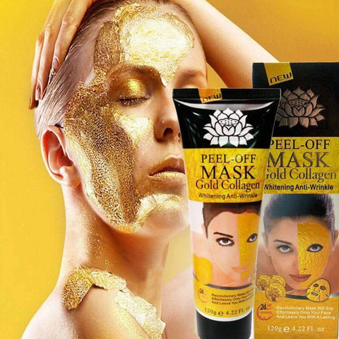 Image of peel off mask gold collagen