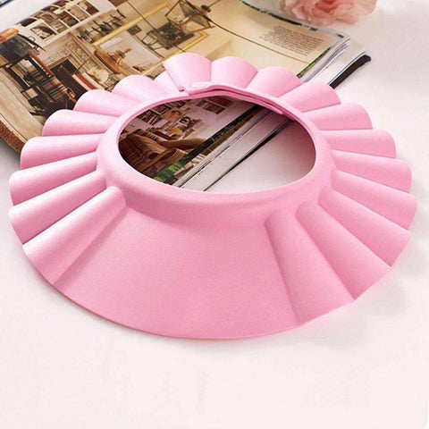 Image of pink baby bath cap