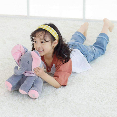 Image of Stuffed & Plush Animals - Peek A Boo Elephant Plush