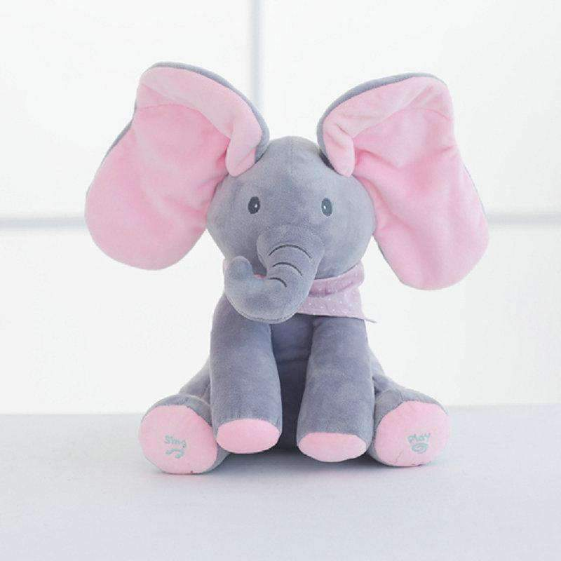 Stuffed & Plush Animals - Peek A Boo Elephant Plush