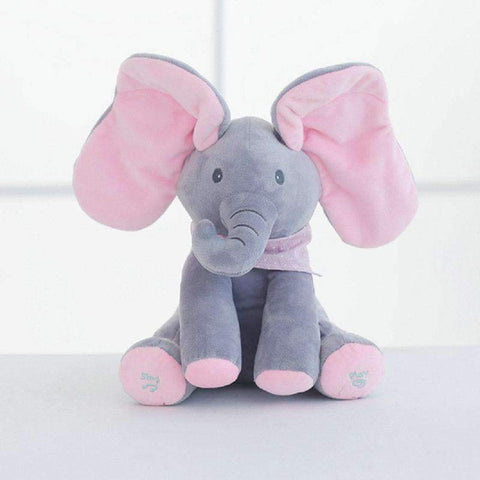 All For Hobbies Pink Peek a Boo Elephant Plush