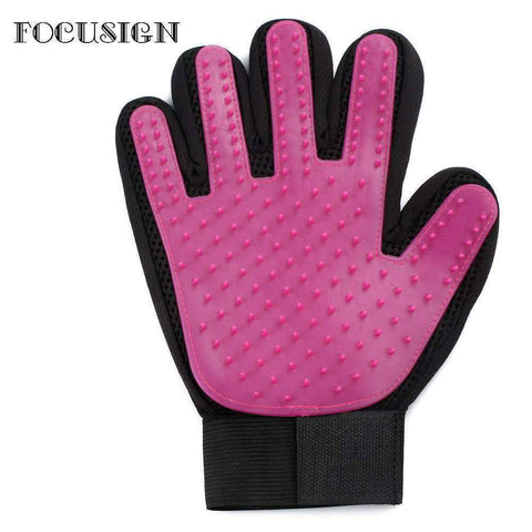 Image of All For Hobbies Pink Pet Grooming Gloves