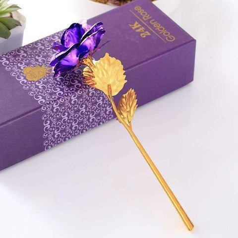 Image of All For Hobbies Purple 24k Gold Rose