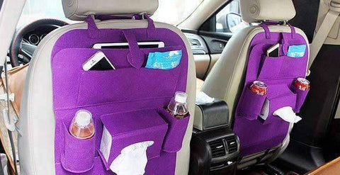 All For Hobbies Purple Back Seat Storage Organizer