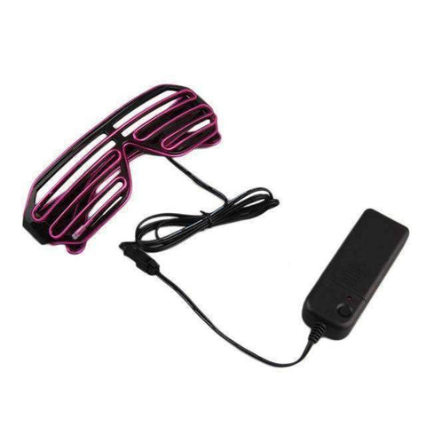 All For Hobbies Purple Duo-Color LED Glasses