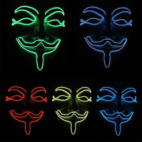 All For Hobbies Guy Fawkes Mask (Anonymous LED Mask)