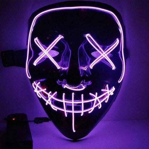 All For Hobbies Purple LED Purge Mask