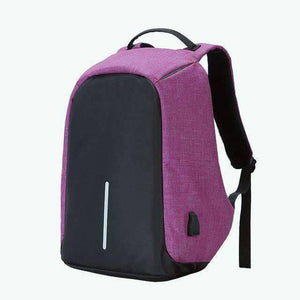 All For Hobbies Purple Travel Anti Theft Backpack