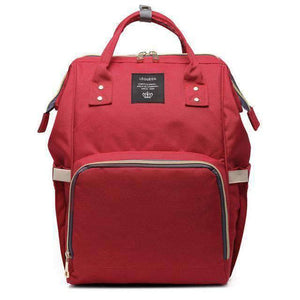 All For Hobbies red Baby Diaper Backpack