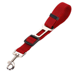 All For Hobbies Red Dog Seat Belt
