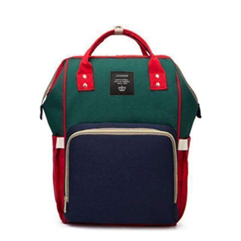 Image of All For Hobbies red green blue Baby Diaper Backpack