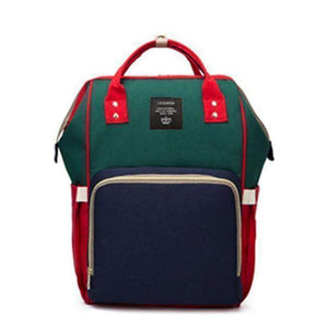 All For Hobbies red green blue Baby Diaper Backpack