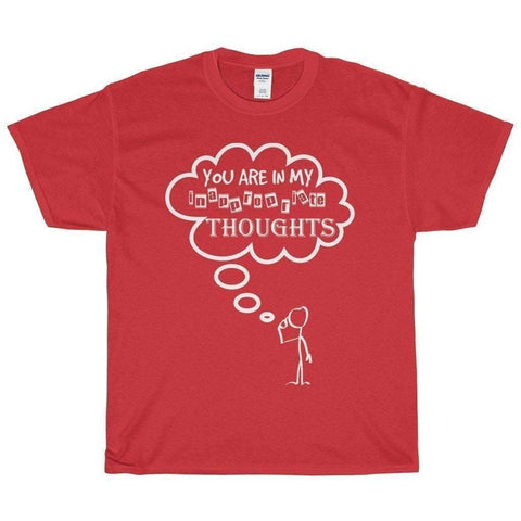 All For Hobbies Red / S Inappropriate Thoughts Tee