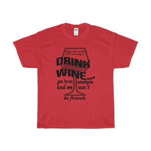 All For Hobbies Red / S Never Too Early For Wine Tee