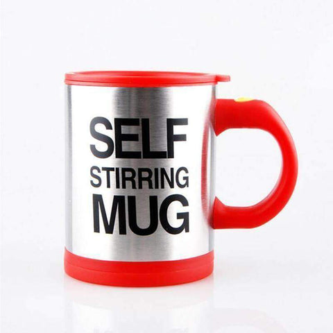 red self spinning mug