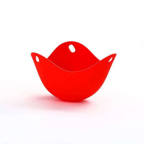 Image of All For Hobbies Red Silicone Egg Poacher Cups (Set of 2)