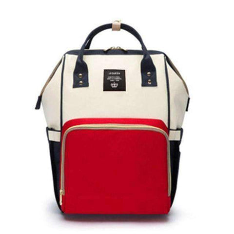 Image of All For Hobbies red white blue Baby Diaper Backpack