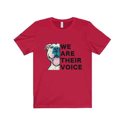 Image of All For Hobbies Red / XS We Are Their Voice Tee