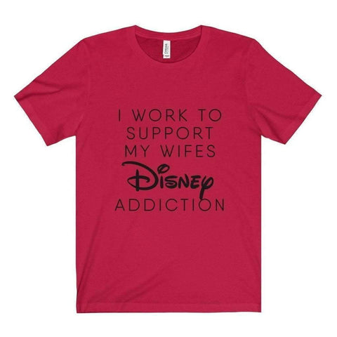 All For Hobbies Red / XS Wife's Disney Addiction Tee