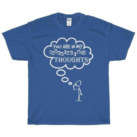 All For Hobbies Royal / S Inappropriate Thoughts Tee