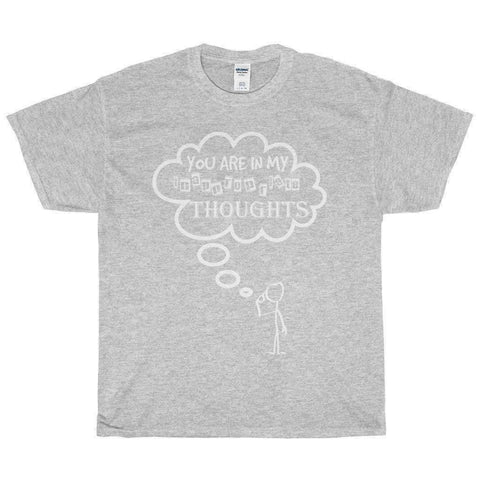 All For Hobbies Sport Grey / S Inappropriate Thoughts Tee