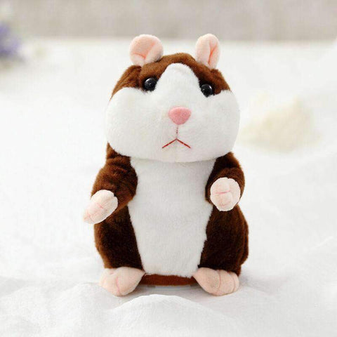 All For Hobbies Dark Brown Snuggles The Talking Hamster Toy