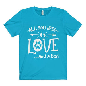 All For Hobbies Turquoise / XS All You Need Is Love Tee